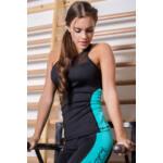 """Héra Color fitness trikó - fekete-karibizöld """"L"""""""