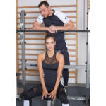 "Héra Color fitness trikó - fekete-fehér ""L"""