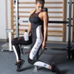 "Héra Color fitness trikó - fekete-fehér ""XS"""