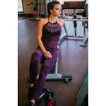 """Silver női fitness trikó és leggings szett - padlizsánlila """"S"""""""