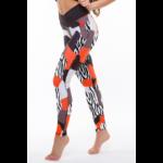 Zebra-mix leggings, piros 'M'
