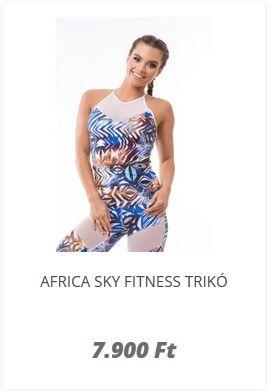 Fitnesz felső kék színű africa kollekció