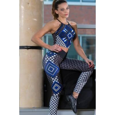 AZTÉK BLUE fitness leggings