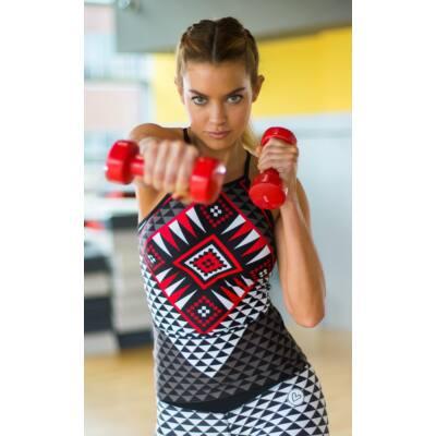 AZTÉK RED fitness trikó - belső toppal