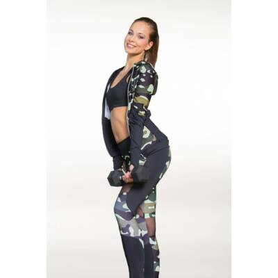 Amazon Héra fitness leggings, Forest (zöld), M- Kifutó