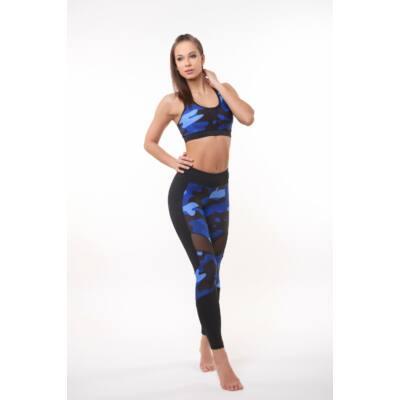 Amazon Géta fitness top kivehető szivacsbetéttel, Ocean (kék)