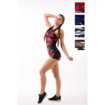Amazon Héra fitness trikó -belső toppal, kivehető szivacsbetéttel, Vulcano (piros), M- Kifutó