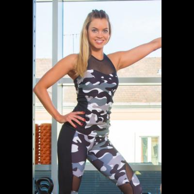Amazon Héra fitness trikó -belső toppal, kivehető szivacsbetéttel, Rock (szürke)