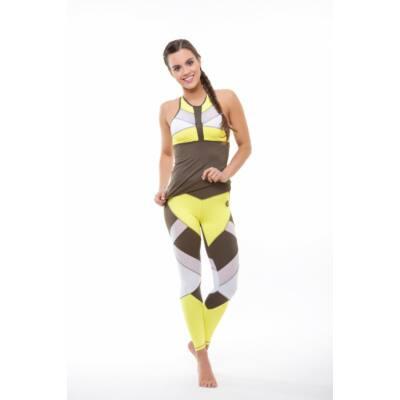 Mozaik Khaki fitness trikó kivehető szivacsbetéttel, (S) - Kifutó