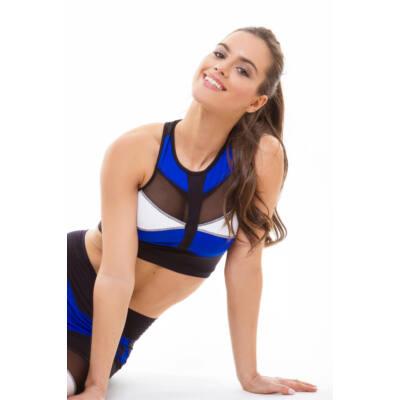 Mozaik Khaki fitness top kivehető szivacsbetéttel