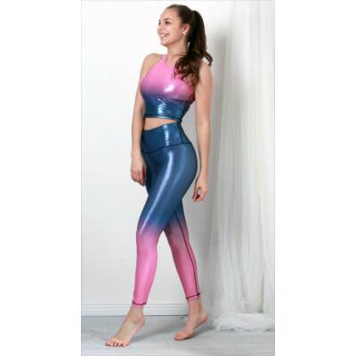 Ice pink-blue fitness szett (capry + top)