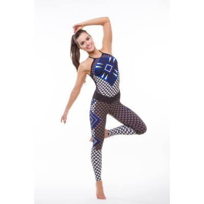Azték blue fitness overall