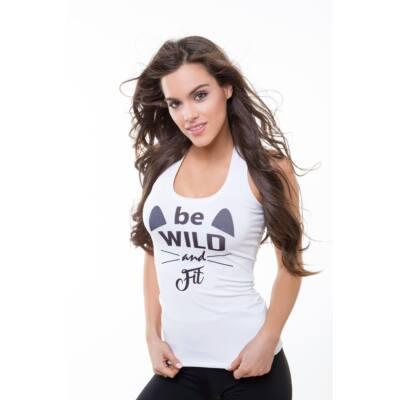 Be Wild fitnesz- birkózó trikó neonkorall