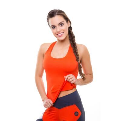Basic birkózó trikó narancssárga 'S'