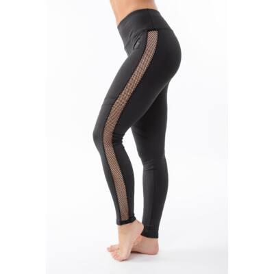 Fishnet Réka fitness leggings, fekete