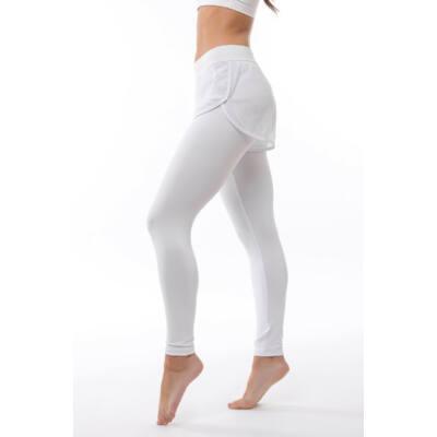 Fishnet fitness shortos leggings, fehér