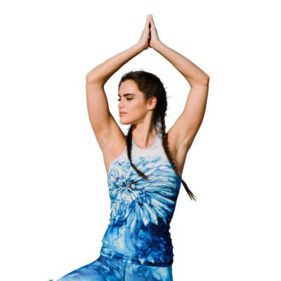 Harmony Blue jóga trikó