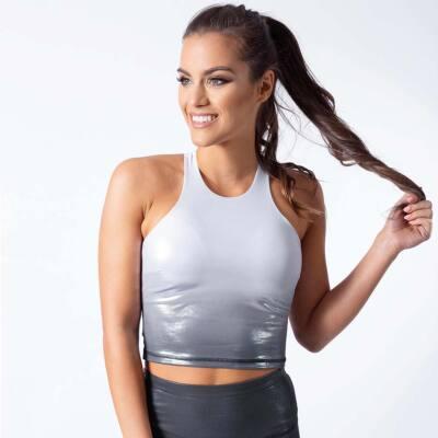 Indigo style fitness top – Ice