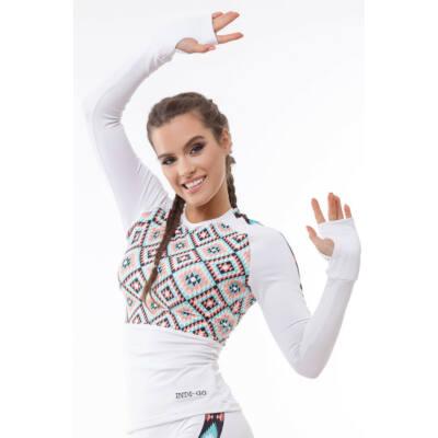 Mexico white fitness hosszúujjú