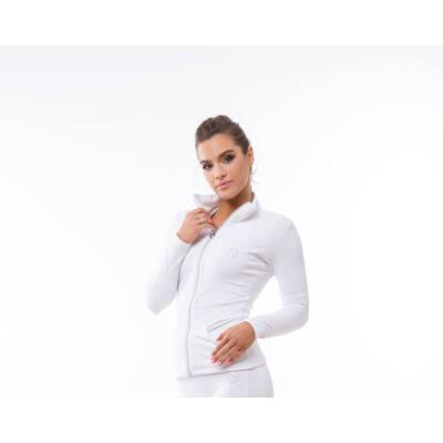 Réka White zip fitness felső