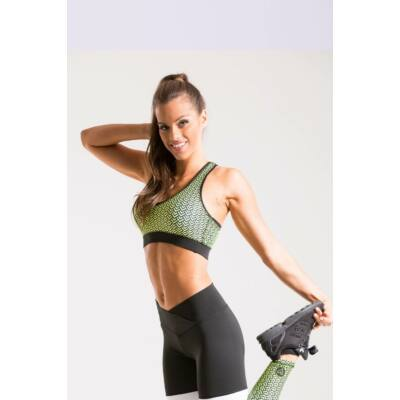 Scaly neonsárga fitness top