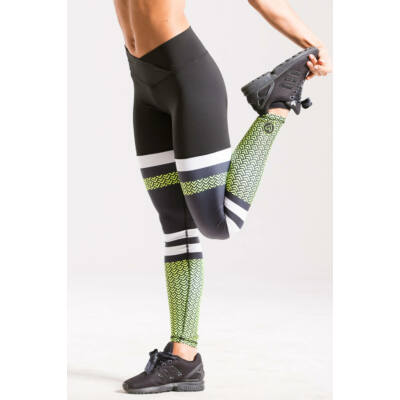 Scaly fitness leggings neonsárga