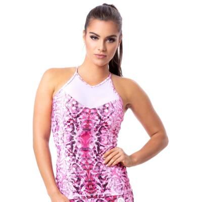 Indigo style fitness trikó – Snake Pink