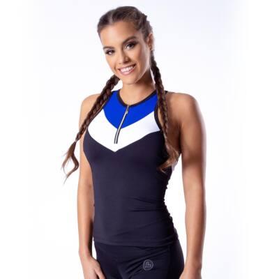Tricolor blue fitness trikó