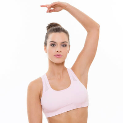 Vichy light rose fitness top