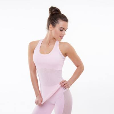 Vichy light rose fitness birkózó trikó