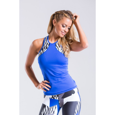 Zebra-mix trikó, belső toppal és kivehető szivacsbetéttel