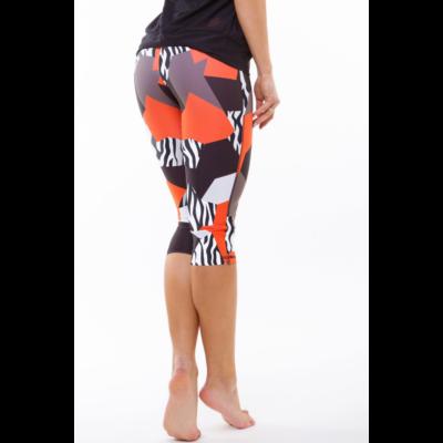 Zebra-mix térdnadrág, narancssárga 'S'