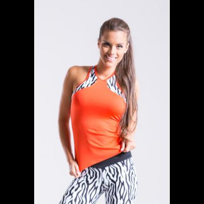 Zebra-mix trikó, narancssárga 'S'