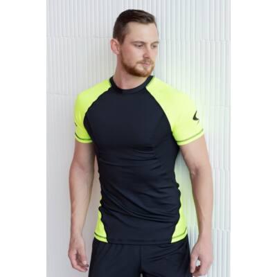 Strong Body DUO rövidujjú edző felső, fekete-fehér