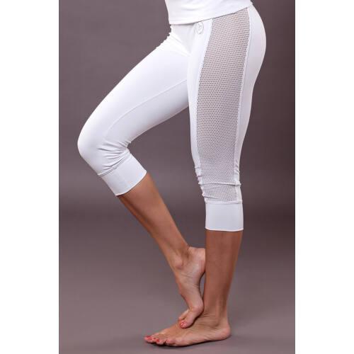 Indigo Fitness Style - Vichy térdnadrág, fehér