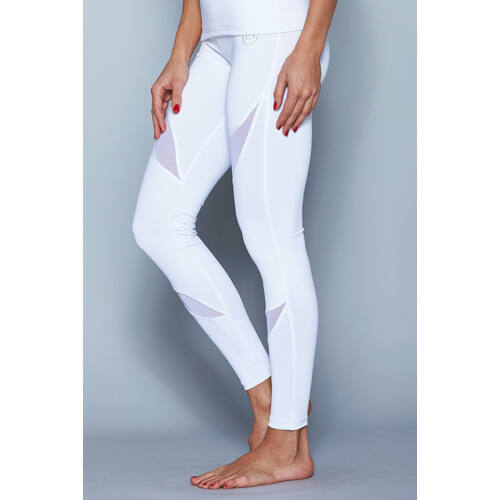 Indigo Fitness Style - Szirom bokanadrág, fehér