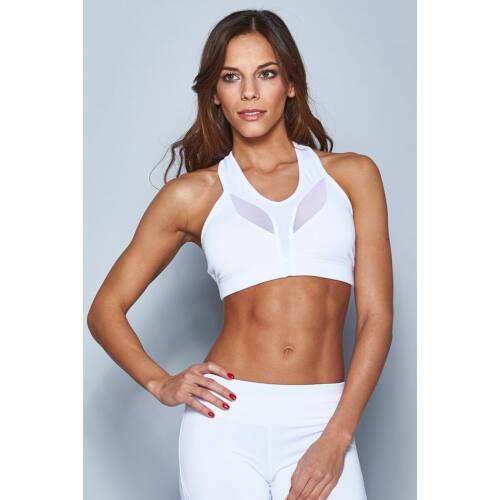 Indigo Fitness Style - Szirom top, fehér - kivehető szivacsos betéttel