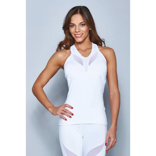 Indigo Fitness Style - Szirom trikó, fehér - kivehető szivacsos betéttel