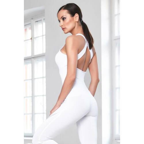 Indigo Fitness Style - Szirom overáll, fehér