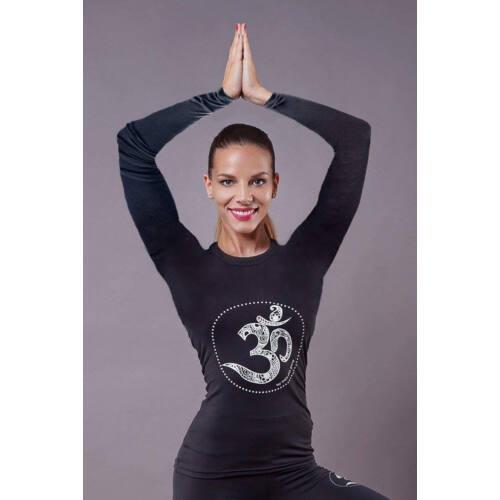 Indigo Fitness Style - OM hosszú ujjú fitness felső, fehér
