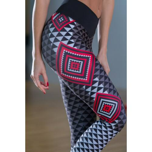 AZTÉK RED fitness leggings