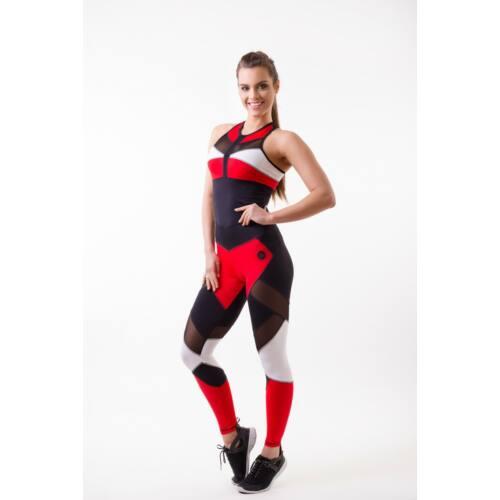 Mozaik Red fitness leggings