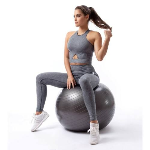 Indigostyle fitness top – Jeans gray