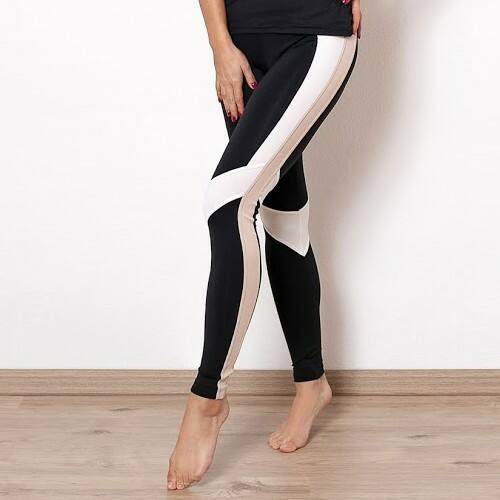 Indi-Go Rebirth fitness leggings, light beige 'M'