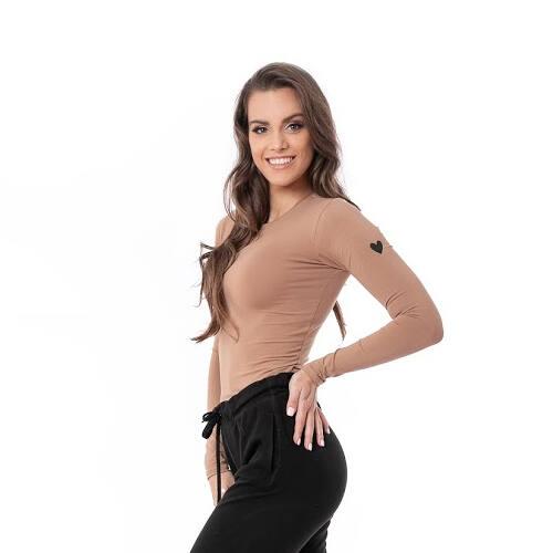 Indi-Go Biopamut Amanda hosszúujjú felső, barna 'L'