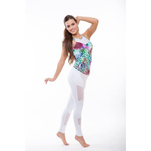 Indigo Fitness Style - Tina bokanadrág, fehér
