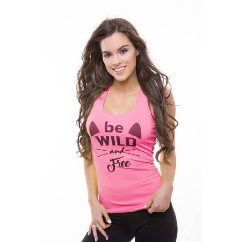Be Wild fitnesz- birkózó trikó neonpink