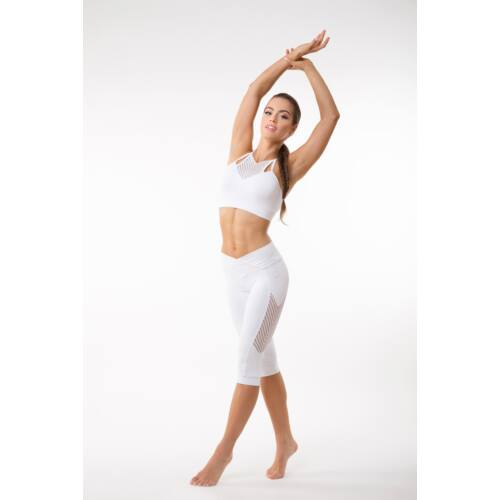 Indigo Fitness Style- Fishbone fitness térdnadrág, fehér
