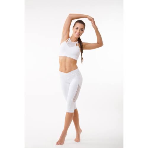Fishbone fitness  top kivehető szivacsbetéttel, fehér 'L'