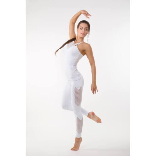 Fishbone fitness  trikó belső toppal szivaccsal, fehér 'L'